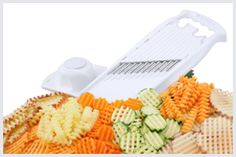 Bring Creativity Into Your Kitchen With A Waffle Fry Cutter! http://www.cutsliceddiced.com/bring-creativity-into-your-kitchen-with-a-waffle-fry-cutter