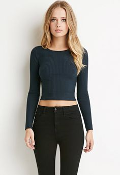 Ribbed Knit Crop Top - Fabulous Finds - 2000141216 - Forever 21 EU English