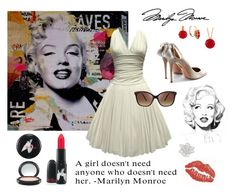 """Marilyn Monroe"" by claudia710 ❤ liked on Polyvore featuring Aquazzura, Ashley Stewart and Les Néréides"
