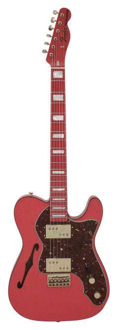 Fender Electric Guitar Custom Shop 72 Telecaster Thinline Fiesta Red Masterbuilt