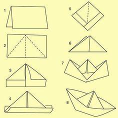 """JyotiMa Flak on Instagram: """"Aus meinem Buch """"108 Freudenexplosionen"""", was ich gerade schreibe: """"Dein Alltag braucht mehr Fluß und mehr Frieden – (Papierboot der…"""" Diy For Kids, Crafts For Kids, Fabric Crafts, Paper Crafts, Pirate Birthday, Paper Folding, Origami Paper, Oragami, Cool Diy"""