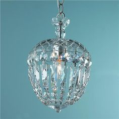 This is a small reproduction Cut Crystal Basket pendant... I just scored the real thing bigger and badder in a semi-flush at a local antique store for my powder room.