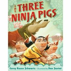 The Three Ninja Pigs by Corey Rosen Schwartz  My kid loves this book and I really enjoy reading it too.  It's a cool take on the Three Little Pigs story.