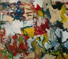 Willem de Kooning is known for emotive, gestural canvases that transcend conventional definitions of figuration and abstraction. Description from artic.edu. I searched for this on bing.com/images