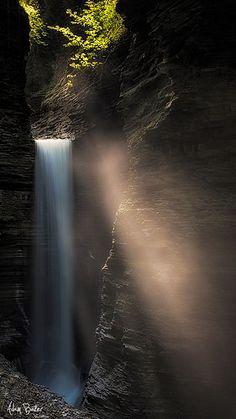Cavern Cascade, Watkins Glen State Park, New York; photo by .Adam Baker