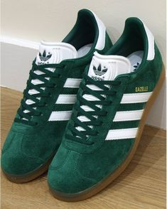 best service f8ee5 0e740 Adidas Gazelle Trainers Green White Gum - Shop Adidas Trainers At 80sCC