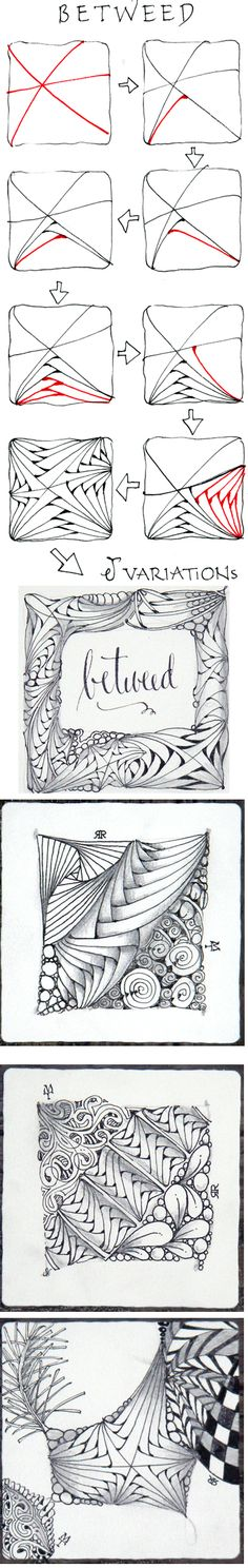 Betweed. Official Zentangle with variations. I love this tangle and it looks…