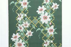 REMNANT of Vintage Wallpaper Single 48 Inch by RemnantsAndRolls