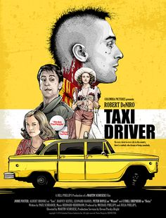 Alternative Taxi Driver Poster Design I did this as a gift but I enjoyed so much to draw a poster of one of my favorite movies. I hope to h...