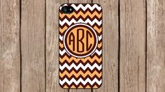 Personalized Monogram Chevron Brown Yellow Pattern for iPhone 4/4s/5/5s/5c Samsung Galaxy S3/S4/S5/Note 2/Note 3 by TopCraftCase, $6.99