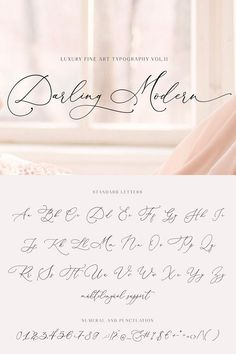 Darling Modern is a crème de la crème modern calligraphy font with handwritten. Darling Modern is a crème de la crème modern calligraphy font with handwritten, sophisticated flows. It is perfect for b. Calligraphy Fonts Alphabet, Flourish Calligraphy, Handwriting Alphabet, Hand Lettering Alphabet, Modern Caligraphy, Graffiti Alphabet, Penmanship, Islamic Calligraphy, December Calligraphy