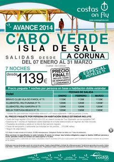 Cabo Verde - Isla de Sal desde A Coruña. Avance 2014  Oferta Salidas Enero - Marzo. - http://zocotours.com/cabo-verde-isla-de-sal-desde-a-coruna-avance-2014-oferta-salidas-enero-marzo/