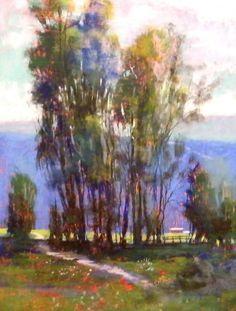 "Képtalálat a következőre: ""phil bates pastel artist"" Paintings I Love, Nature Paintings, Beautiful Paintings, Landscape Paintings, Pastel Paintings, Landscapes, Pastel Landscape, Abstract Landscape, Watercolor Trees"