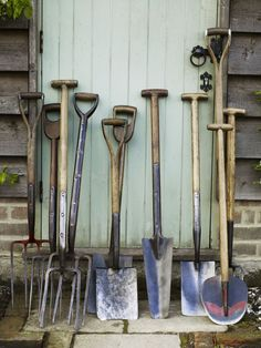 We use our garden as a backdrop to our business that sells antique garden tools, furniture and garden ephemera. Old Garden Tools, Garden Power Tools, Garden Tool Shed, Garden Tool Storage, Farm Tools, Garden Yard Ideas, Old Tools, Gardening Tools, Cover Design