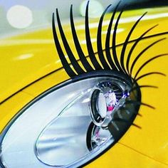 3D Car Headlight Black False Eyelashes