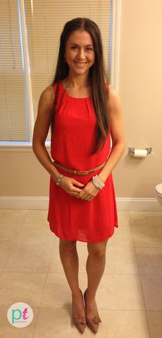 love this coral dress from Forever 21