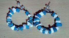Turquoise Beaded Hoop Earrings $10