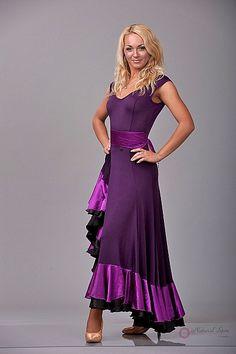 Natural Spin Signature Ballroom Dance Dresses:  BD13_PURPLE