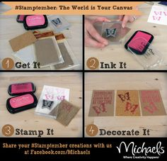 The World Is Your Canvas - Rubber Stamping Tips