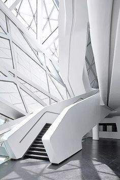 Guangzhou Opera House22 副本 by XiaZhi-Image | #white #architecture #interiors | http://www.notjustpowder.com