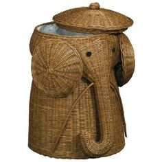 Rattan elephant hamper. Must have.