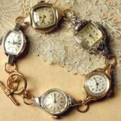 Watches joined with jump rings