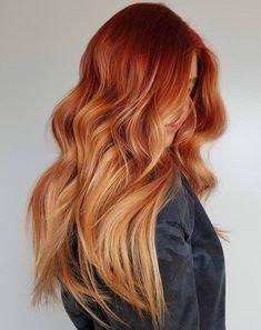 Auburn Hair With Highlights, Light Auburn Hair Color, Brown Auburn Hair, Balayage Highlights, Red Balayage Hair, Red Balyage, Copper Blonde Balayage, Light Red Hair, Chunky Highlights