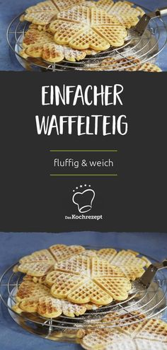 Waffelteig The delicious waffle dough is superfix prepared and you can start baking with the waffle. Tip: Finished waffles can be kept warm in the oven – if they are not eaten immediately! Casserole Recipes, Soup Recipes, Healthy Recipes, Brunch Recipes, Breakfast Recipes, Baking Recipes, Cookie Recipes, Waffles, Menu Dieta