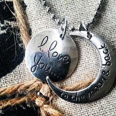 Stalen bolletjes ketting I LOVE YOU TO THE MOON