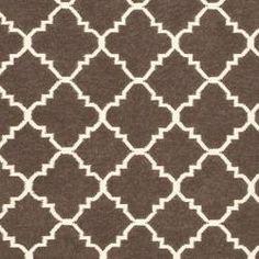 Com Safavieh Hand Woven Moroccan Dhurrie Brown Ivory Wool Rug