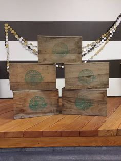 The Farmers Market Wooden Display; Crate Stands; Wooden Box; Wooden Stand; Wooden Tier; Vintage Farmhouse; Joanna Gaines; Magnolia Market by LynnMichelleDesign on Etsy