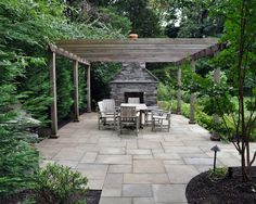Cool Tile And Pergola Perfect For The Front Side