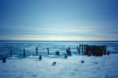 Frozen Delaware Bay by Port Mahon. 2015 #delawarebay