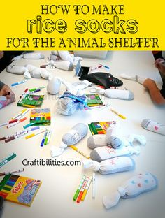 help animal shelter dog cat toys rice socks heating pad animals giving back easy for kids how to help kittens warmth after surgery spay neuter fabric markers service project ideas fun crafts diy Service Projects For Kids, Community Service Projects, Diy Projects For Kids, Crafts For Kids, Service Ideas, Diy Volunteer Projects, Community Project Ideas, Animal Shelter Donations, Shelter Dogs