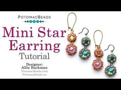 In this video beading tutorial from PotomacBeads, Allie makes lovely Mini Star Earrings. To purchase PotomacBeads products featured in this jewelry-making be. Pearl Stud Earrings, Seed Bead Earrings, Star Earrings, Diy Earrings, Seed Beads, Hoop Earrings, Jewelry Making Tutorials, Beading Tutorials, Jewelry Making Beads