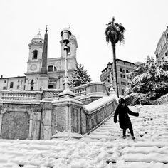 ITALIA - Snow in Rome by minotauro9  Piazza di Spagna con...