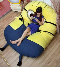 Cuddle up with your very own minion after a long day by laying atop the ultra comfortable Despicable Me minions sleeping bag. This giant minion comes dressed in his signature garbs and is filled with (Cool Furniture Inventions)