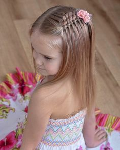 65 young girl's braid hairstyles mother could try for their princess - Page 14 of 32 - Beautrends Young Girls Hairstyles, Baby Girl Hairstyles, Box Braids Hairstyles, Pretty Hairstyles, Beautiful Braids, Girls Braids, Toddler Hair, Stylish Hair, Braid Styles