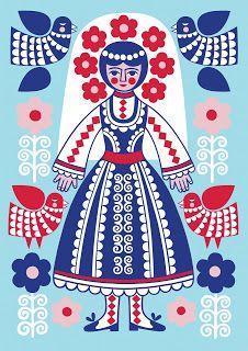 karoline made this: Girls Who Draw present Masquerade Folklore, Scandinavian Folk Art, Folk Fashion, Naive Art, Pattern Art, Traditional Art, Masquerade, Creations, Character Design