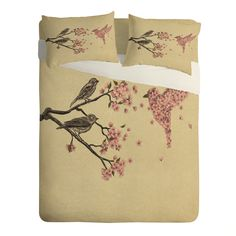 Terry Fan Blossom Bird Sheet Set Lightweight | DENY Designs Home Accessories