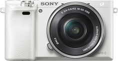 Sony - a6000 Mirrorless Camera with 16-50mm Lens - White