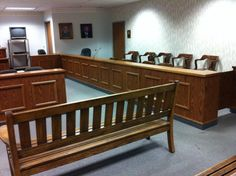 The jury box at the Clinton County Municipal Court. www.WilmingtonDUI.com