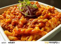Mleté maso s těstovinami z jedné pánve recept - TopRecepty.cz Gnocchi, Macaroni And Cheese, Food And Drink, Treats, Ethnic Recipes, Lasagna, Sweet Like Candy, Mac And Cheese, Goodies