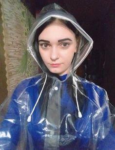 Clear Raincoat, Vinyl Raincoat, Pvc Raincoat, Plastic Raincoat, Selfies, Imper Pvc, Rain Bonnet, Plastic Mac, Vinyl Clothing