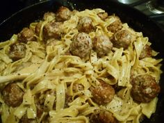 Pinner said:   Meatballs Stroganoff - a favorite of my kids (and neighbor kids), and friends who have kids.  Perfect for throwing together after a work day with rave reviews!!