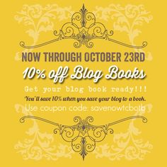 10 percent off discount on blog books from The Cutest Blog on the Block