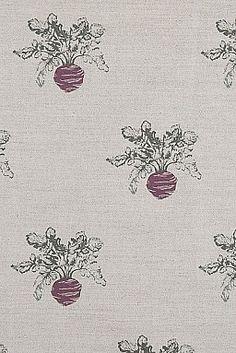 Emily Bond Beetroot Linen Union - possible for family room , kitchen, dining? Emily Bond, Fabric Design, Print Design, Textile Prints, Textiles, Farm Yard, Fabulous Fabrics, Fabric Wallpaper, Vintage Fabrics