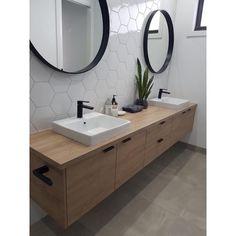 Home Interior Modern Downstairs bathroom idea - single sink though.Home Interior Modern Downstairs bathroom idea - single sink though Farmhouse Bathroom Mirrors, Bathroom Mirror Design, Modern Bathroom Tile, Downstairs Bathroom, Bathroom Renos, Bathroom Interior Design, Minimalist Bathroom, Bathroom Pink, Master Bathroom