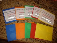 I saw that going differently in my mind...: Final Lego Invitations