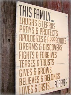 "My daughter posted this ""positive quote about family aka my family"""